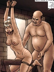 Two girls, naked and tied in the cold basement!